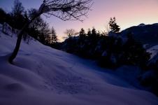 levé du soleil au Mazot de l'Ours